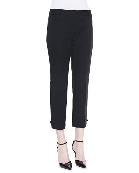 jackie bow-cuff capri pants