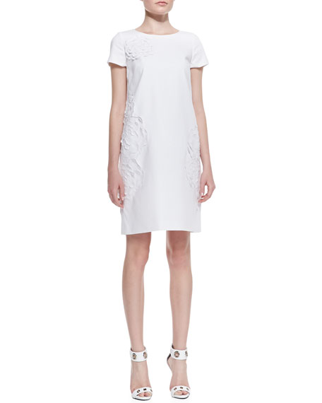 Jaedyn Stretch-Cotton Dress with Floral Cutouts