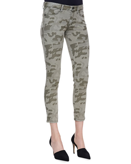 Cropped Camo Skinny Jeans
