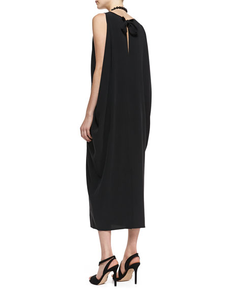 Silk Georgette Long Dress