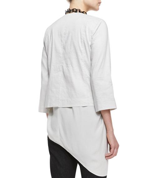 Polished Ramie A-Line Jacket, Petite