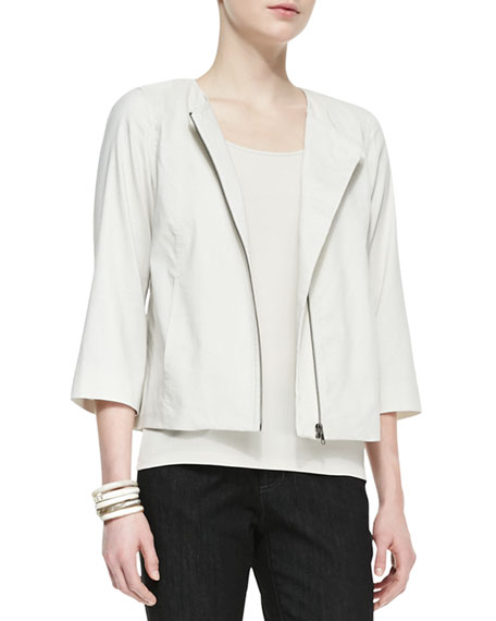 Polished Ramie A-Line Jacket, Women's