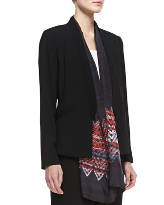 Tropical Suiting Open Jacket, Women's