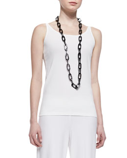 Eileen Fisher Silk Jersey Long Slim Camisole, Women's