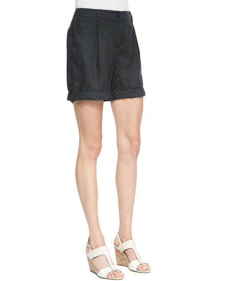 Organic Linen City Shorts, Graphite