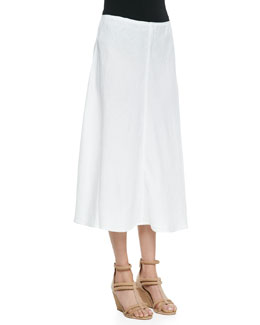 Eileen Fisher Heavy-Linen Bias-Skirt