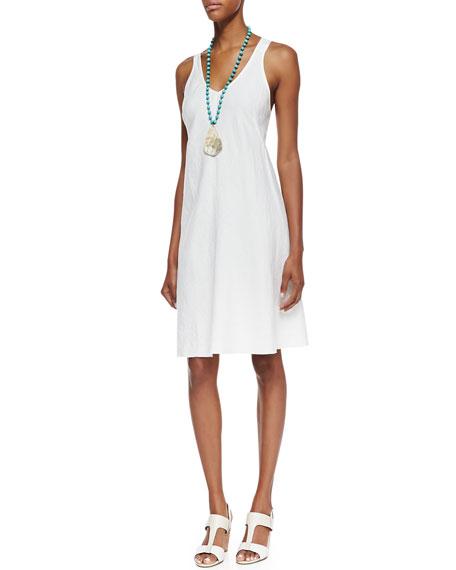 Eileen Fisher Organic-Linen Knee-Length Bias Dress