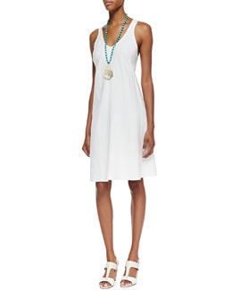 Eileen Fisher Organic-Linen Knee-Length Bias Dress, Women's