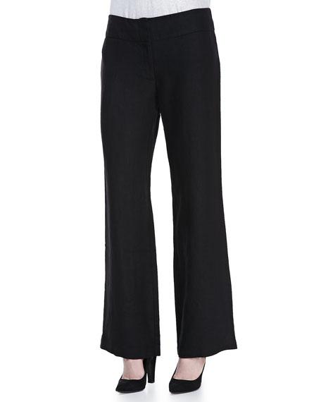 Heavy Linen Wide-Leg Trousers