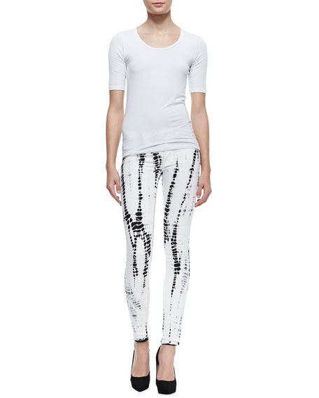 Krista Illusions Printed Skinny Jeans