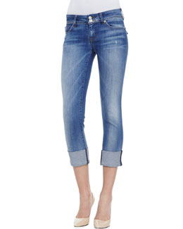 Hudson Ginny Denim Cropped Jeans