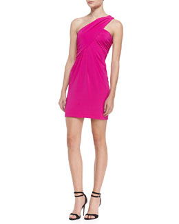 Cut25 by Yigal Azrouel Gathered One-Shoulder Dress