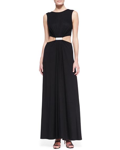 Cutout-Waist Jersey Gown