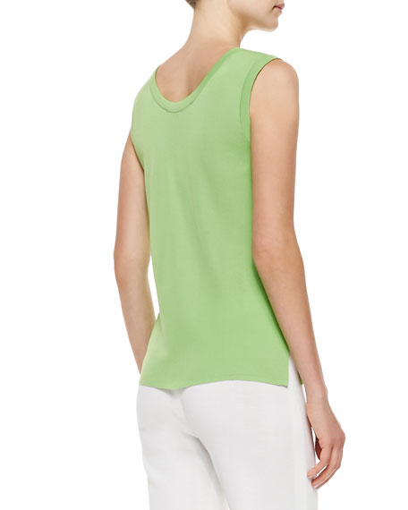 Scoop-Neck Tank, Bud Green
