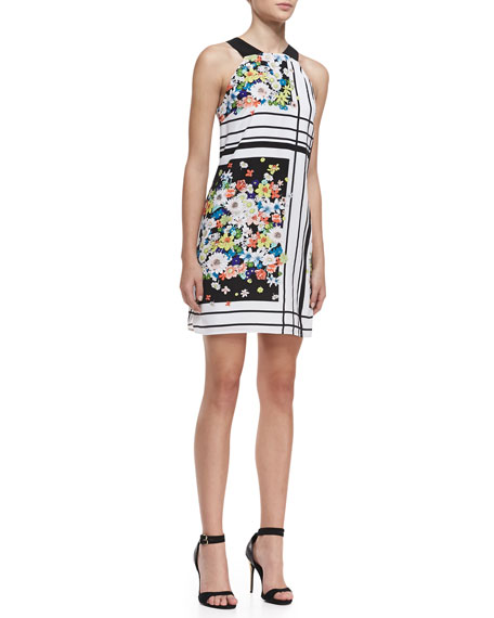 Halter Floral Print Tent Dress, Multicolor