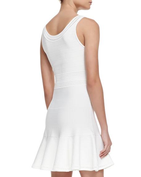 Perry Sleeveless Flutter Dress