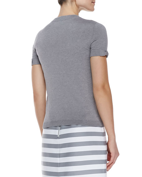 somerset short sleeve sweater, casino gray