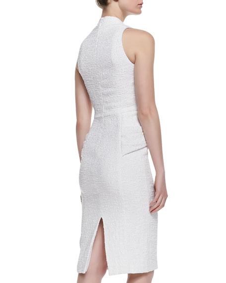 V-Neck Twist-Front Cocktail Dress