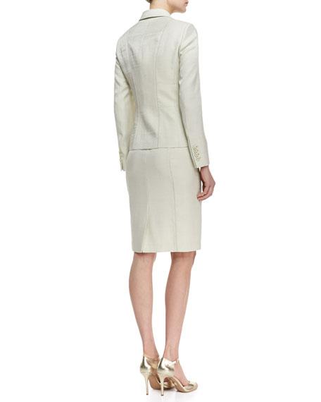 Seamed Skirt Suit, Celadon