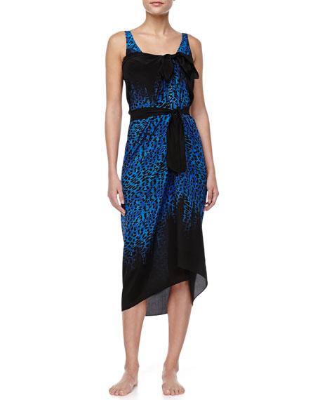 Bangalore Leopard-Print One-Piece Swimsuit, Blue