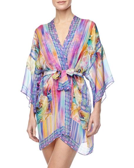Fauna Printed Kimono Swim Coverup