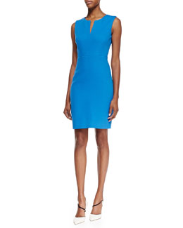 kate spade new york emrick sleeveless textured sheath dress, azure blue