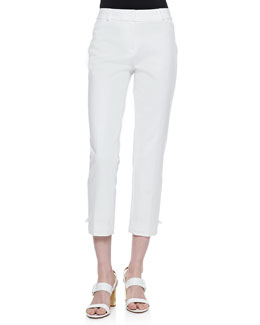 kate spade new york jackie capri pants, fresh white