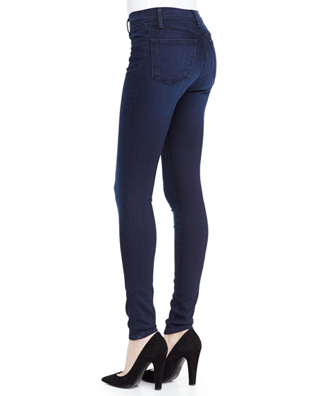 Mid-Rise Faded Stocking Jeans, Darkness