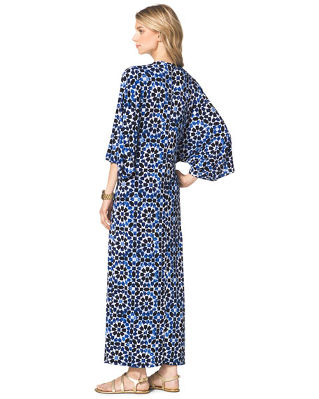 Studded Printed Maxi Dress, Women's