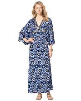MICHAEL Michael Kors  Studded Printed Maxi Dress, Women's