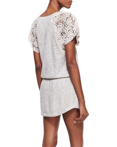 Freja Lace-Sleeve Dress