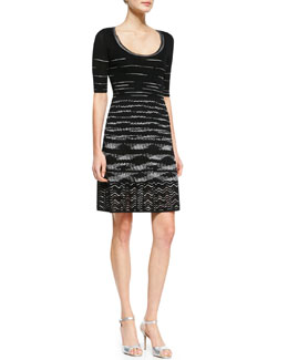 M. Missoni Space-Dye Serpentine Dress