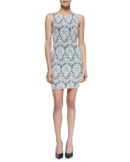 Donovan Lace Sleeveless Sheath Dress