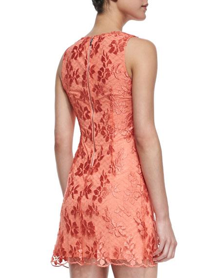 Dot Lace Sleeveless Dress