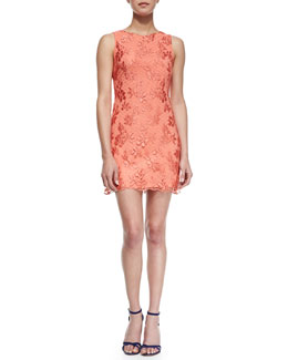 Alice + Olivia Dot Lace Sleeveless Dress