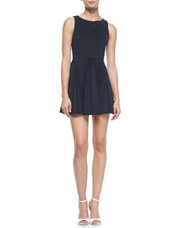 Alice + Olivia Monah A-Line Sleeveless Dress, Navy
