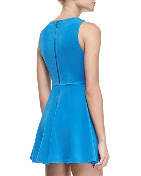 Monah A-Line Sleeveless Dress, Marina Blue
