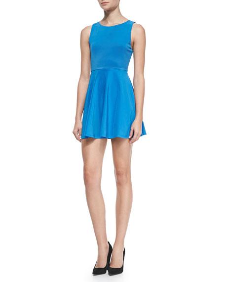 Monah A-Line Sleeveless Dress, Marina Blue