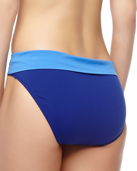 Deck Piping Fold-Over Hipster Swim Bottom