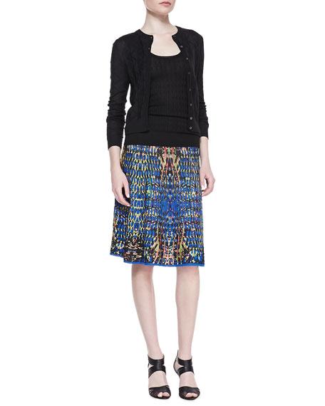 A-Line Jacquard Skirt