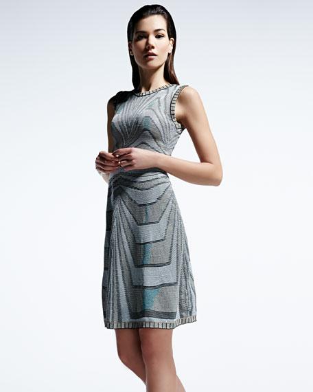 Aztec Metallic Tank Dress