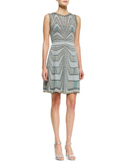 M. Missoni Aztec Metallic Tank Dress