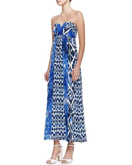 Mimi Strapless Silk Maxi Dress