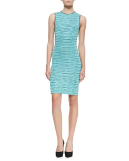 M. Missoni Sleeveless Space-Dye Dress with Back Cutout