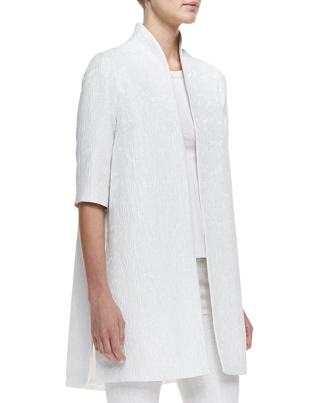 Silver Magnolia Opera Coat, Crystal White