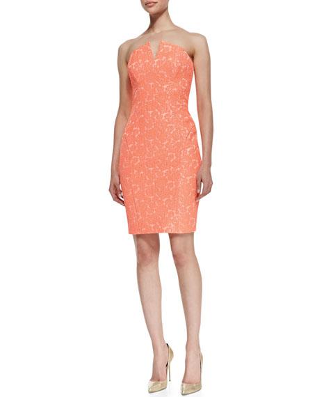 Silver Magnolia Strapless Bustier Dress, Mango