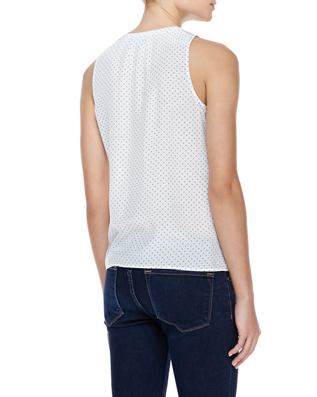 Senia Polka-Dot Sleeveless Tank