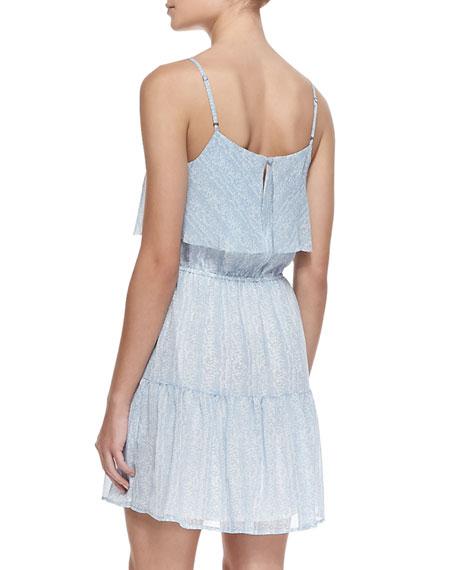 Carlissa Silk Sleeveless Scoop-Neck Dress