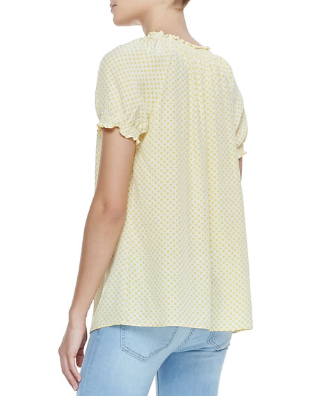 Masha Printed Short-Sleeve Blouse