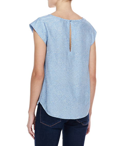Rancher B Printed-Silk Top